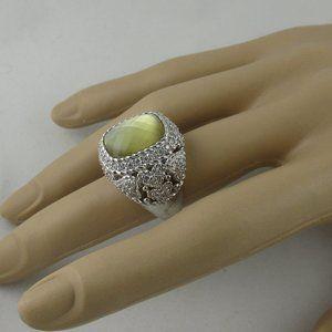 Judith Ripka Gemstone Doublet Cocktail Ring